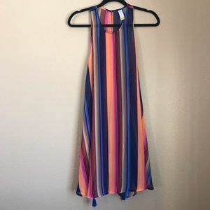 Multi Color Side Tie Sheer Cover Up